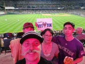 Elaine attended Colorado Rockies vs. Milwaukee Brewers - MLB on Jun 18th 2021 via VetTix