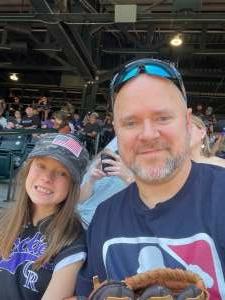 Chuck Warner  attended Colorado Rockies vs. Milwaukee Brewers - MLB on Jun 18th 2021 via VetTix