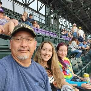 Felipe attended Colorado Rockies vs. Milwaukee Brewers - MLB on Jun 18th 2021 via VetTix