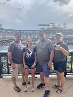 Rob attended Colorado Rockies vs. Milwaukee Brewers - MLB on Jun 18th 2021 via VetTix