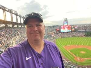 Jim Peterson attended Colorado Rockies vs. Milwaukee Brewers - MLB on Jun 18th 2021 via VetTix