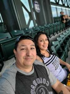 Donnie attended Colorado Rockies vs. Milwaukee Brewers - MLB on Jun 18th 2021 via VetTix