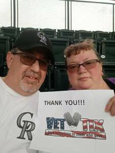 Chad attended Colorado Rockies vs. Milwaukee Brewers - MLB on Jun 18th 2021 via VetTix