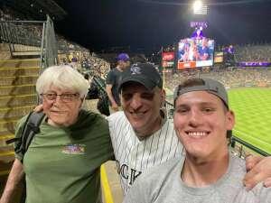 Jeff attended Colorado Rockies vs. Milwaukee Brewers - MLB on Jun 18th 2021 via VetTix