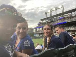 JaVan attended Colorado Rockies vs. Milwaukee Brewers - MLB on Jun 18th 2021 via VetTix