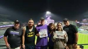 Pool Family attended Colorado Rockies vs. Milwaukee Brewers - MLB on Jun 18th 2021 via VetTix