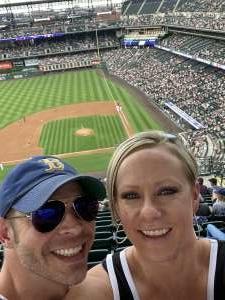 Shane Roy attended Colorado Rockies vs. Milwaukee Brewers - MLB on Jun 18th 2021 via VetTix