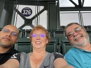 William, Cheryl & James attended Colorado Rockies vs. Milwaukee Brewers - MLB on Jun 18th 2021 via VetTix