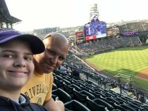 Garrett attended Colorado Rockies vs. San Diego Padres - MLB on Jun 14th 2021 via VetTix