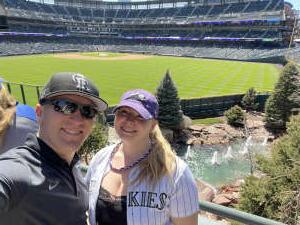 Selby attended Colorado Rockies vs. San Diego Padres - MLB on Jun 14th 2021 via VetTix