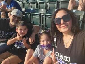 Jacqueline Castillo attended Colorado Rockies vs. San Diego Padres - MLB on Jun 14th 2021 via VetTix
