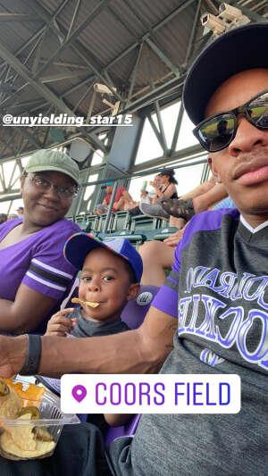 NiqueK14  attended Colorado Rockies vs. San Diego Padres - MLB on Jun 14th 2021 via VetTix