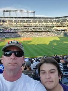 Rockies tix FTW attended Colorado Rockies vs. San Diego Padres - MLB on Jun 14th 2021 via VetTix