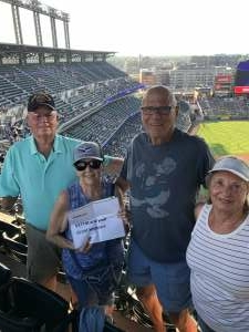 Frank  attended Colorado Rockies vs. San Diego Padres - MLB on Jun 14th 2021 via VetTix