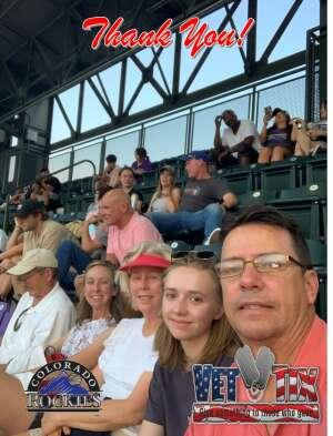 Teresa Grindrod attended Colorado Rockies vs. San Diego Padres on Jun 15th 2021 via VetTix