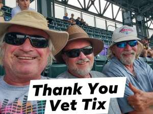 Rikki Hall attended Colorado Rockies vs. San Diego Padres on Jun 16th 2021 via VetTix