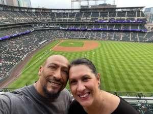 Aranda attended Colorado Rockies vs. Milwaukee Brewers - MLB on Jun 17th 2021 via VetTix