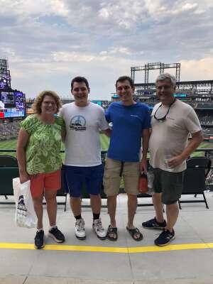Julia  attended Colorado Rockies vs. Milwaukee Brewers - MLB on Jun 17th 2021 via VetTix