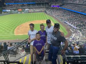Katie Elkins attended Colorado Rockies vs. Milwaukee Brewers - MLB on Jun 17th 2021 via VetTix