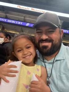 Billy Sandoval attended Phoenix Mercury vs. New York Liberty - WNBA on Jun 13th 2021 via VetTix
