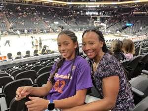 Alexia  attended Phoenix Mercury vs. New York Liberty - WNBA on Jun 13th 2021 via VetTix