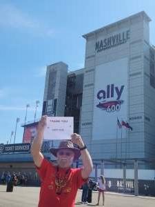 Freeman Horton attended Ally 400 - NASCAR Cup Series Race - KB100 - Kurt Busch Fan Appreciation Tickets on Jun 20th 2021 via VetTix