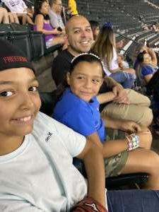 Mario O. attended Arizona Diamondbacks vs. Los Angeles Dodgers - MLB on Jun 18th 2021 via VetTix