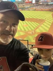 John Erley (Ret MSgt) attended Arizona Diamondbacks vs. Los Angeles Dodgers - MLB on Jun 18th 2021 via VetTix