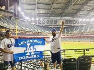Jesús Tiznadlo  attended Arizona Diamondbacks vs. Los Angeles Dodgers - MLB on Jun 18th 2021 via VetTix