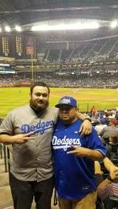 Andrew attended Arizona Diamondbacks vs. Los Angeles Dodgers - MLB on Jun 18th 2021 via VetTix