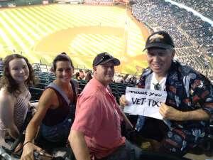 Rick attended Arizona Diamondbacks vs. Los Angeles Dodgers - MLB on Jun 20th 2021 via VetTix