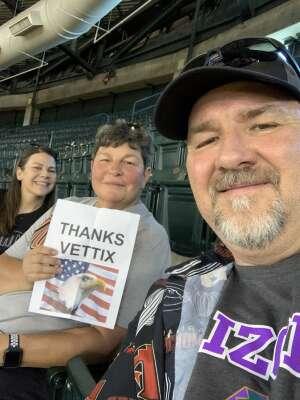 Denis attended Arizona Diamondbacks vs. Los Angeles Dodgers - MLB on Jun 20th 2021 via VetTix