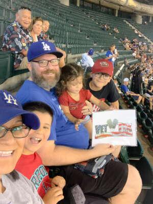 Josh Hiley attended Arizona Diamondbacks vs. Los Angeles Dodgers - MLB on Jun 20th 2021 via VetTix