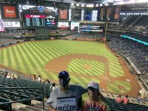 Susan E attended Arizona Diamondbacks vs. Los Angeles Dodgers - MLB on Jun 20th 2021 via VetTix