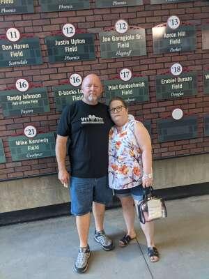 Roger Nelson attended Arizona Diamondbacks vs. Milwaukee Brewers - MLB on Jun 21st 2021 via VetTix