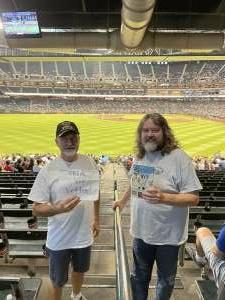 Larry attended Arizona Diamondbacks vs. Milwaukee Brewers - MLB on Jun 21st 2021 via VetTix