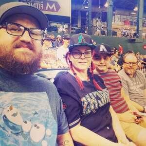 Family game attended Arizona Diamondbacks vs. Milwaukee Brewers - MLB on Jun 21st 2021 via VetTix