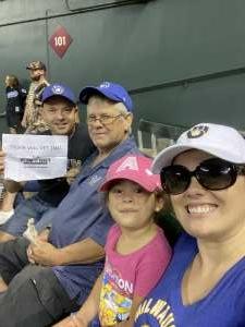 Jerry Slusar attended Arizona Diamondbacks vs. Milwaukee Brewers - MLB on Jun 21st 2021 via VetTix