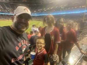 Adrian attended Arizona Diamondbacks vs. Milwaukee Brewers - MLB on Jun 21st 2021 via VetTix