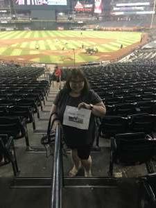 Esther attended Arizona Diamondbacks vs. Milwaukee Brewers - MLB on Jun 21st 2021 via VetTix