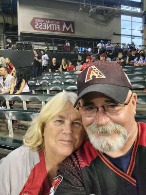 Mary Kay Hahn  attended Arizona Diamondbacks vs. San Francisco Giants - MLB on Jul 3rd 2021 via VetTix