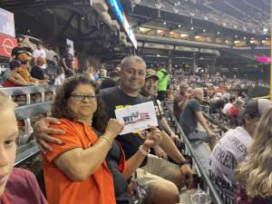 Robert attended Arizona Diamondbacks vs. San Francisco Giants - MLB on Jul 3rd 2021 via VetTix