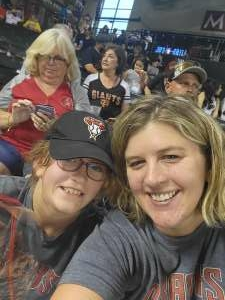 Summer attended Arizona Diamondbacks vs. San Francisco Giants - MLB on Jul 3rd 2021 via VetTix