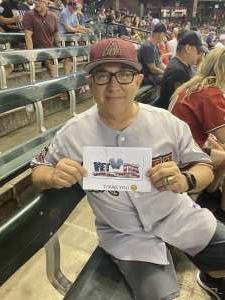 Antonio Alvarado attended Arizona Diamondbacks vs. San Francisco Giants - MLB on Jul 3rd 2021 via VetTix