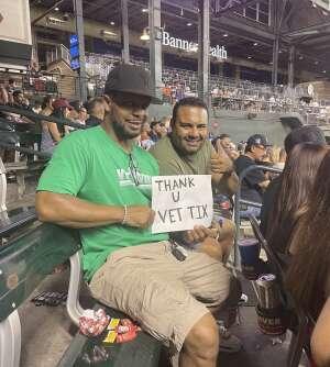 Dimitri attended Arizona Diamondbacks vs. San Francisco Giants - MLB on Jul 3rd 2021 via VetTix