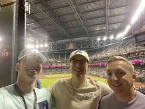 Caleb attended Arizona Diamondbacks vs. San Francisco Giants - MLB on Jul 3rd 2021 via VetTix