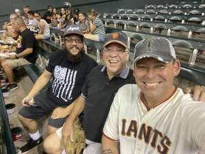 Brian Berleth attended Arizona Diamondbacks vs. San Francisco Giants - MLB on Jul 3rd 2021 via VetTix