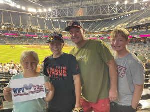 J McLean attended Arizona Diamondbacks vs. San Francisco Giants - MLB on Jul 3rd 2021 via VetTix