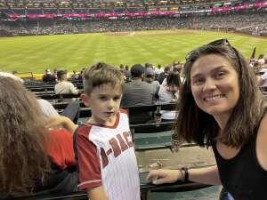 KellyS attended Arizona Diamondbacks vs. San Francisco Giants - MLB on Jul 3rd 2021 via VetTix