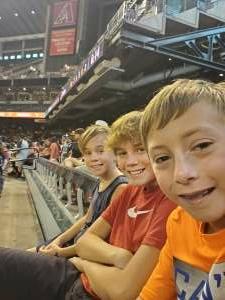 Jacob attended Arizona Diamondbacks vs. San Francisco Giants - MLB on Jul 4th 2021 via VetTix